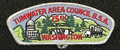 Tumwater Area Council - 75Th - B.s.a. - Csp - Council Shoulder Patch - Sml Bdr