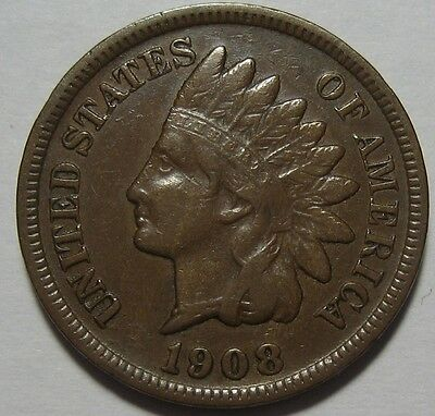 = 1908-S VF/XF INDIAN Cent, Nice Details, KEY DATE, FREE Shipping