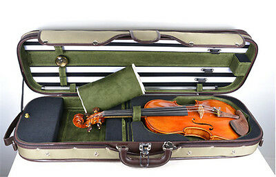 4/4 Size - New Enhaced Wooden Violin Case / Stylish Design / Good Protection