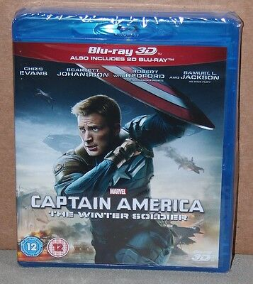 Captain America: The Winter Soldier 3D (Blu-ray, 3D/2D) Brand New, Sealed