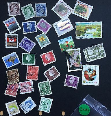 Canada Mixed Lot Stamps x30 No doubles