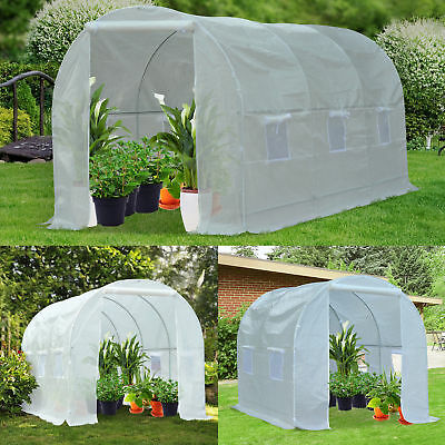 Steel Frame Garden Garden Greenhouse Walk-in Grow Polytunnel Planting Anti-UV