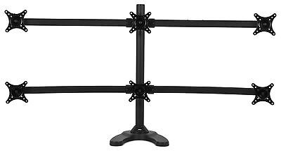 "Pwr+ 6-Monitor-Stand Led-Lcd-Desk-Mount for Six-Screens-Hexa up to 24-inch""-H..."