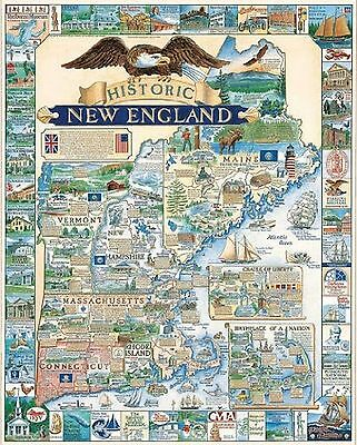 White Mountain Puzzles Historic New England-1000 Piece Jigsaw Puzzle