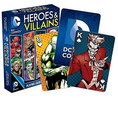 Aquarius DC Comics Heroes and Villains Playing Cards