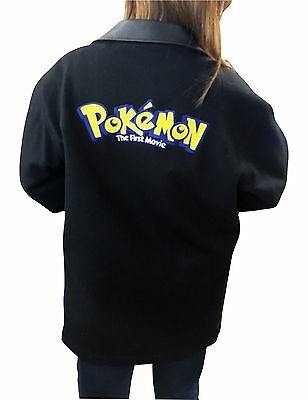 Authetic Pokémon The First Movie Production Crew - Wool Leather Coat, Mens Small