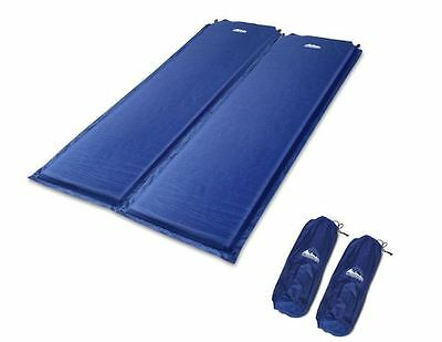 Self Inflating Joinable Sleeping Mat Camping Hiking Mattress Air Bed  Weisshorn