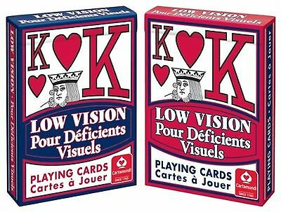 Low Vision Playing Cards Poker Size [Toy]