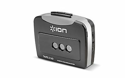 ION Audio Tape 2 Go   Cassette Player and Digital Converter with USB Cable