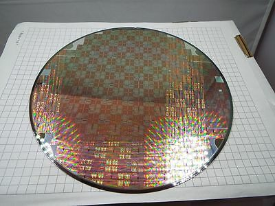 SILICON TEST WAFER - SALE PRICED  - Lithograph - 200mm OD -Lot CLX-XXIII