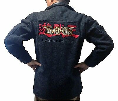 Collectible Yugioh Production Crew Coat - Wool with Leather Trim