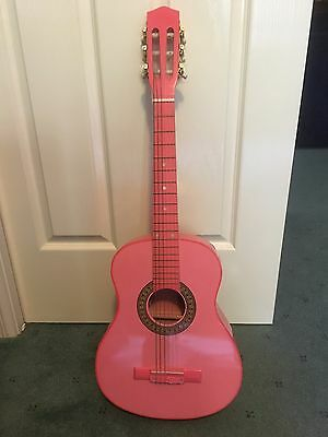Kids pink 3/4 guitar with soft case