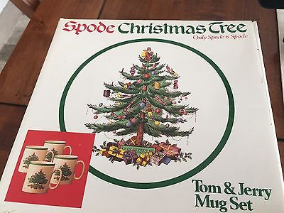 Spode Christmas Tree SEt of 8 Mugs Tom and Jerry New in Box!