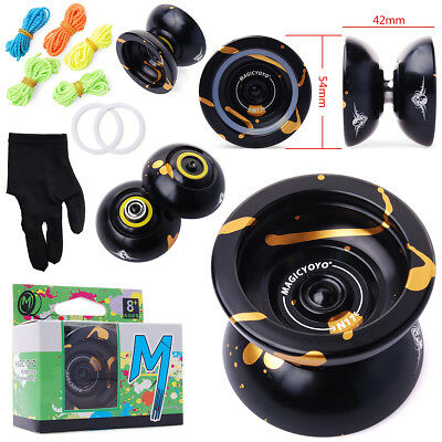 Black Magic YoYo N11 Aluminum Alloy Professional Yo-Yo+5x Strings+Glove TH11