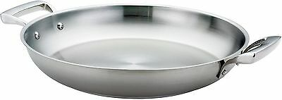 Browne Foodservice (5724172) 11-Inch Stainless Steel Paella Pan