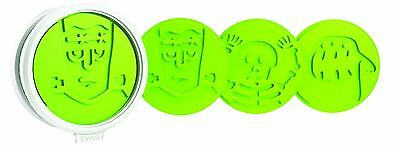 Tovolo Spooky Monster Cookie Cutters-Set of 6 Green