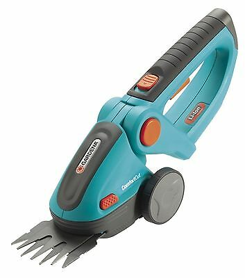 GARDENA 8893 Lithium Ion ComfortCut Rechargeable Grass Shears Turquoise/Orang...