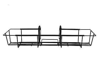 CobraCo 24-Inch Black Flower Box Holder with Adjustable Hanging Brackets F242...
