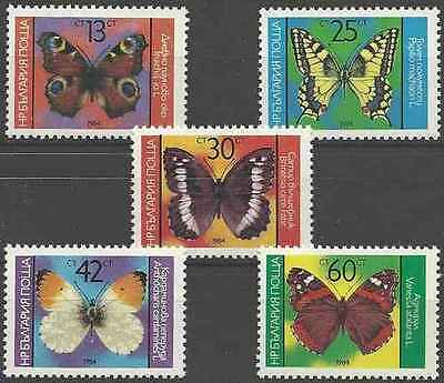 Timbres Papillons Bulgarie 2882/6 ** lot 17066