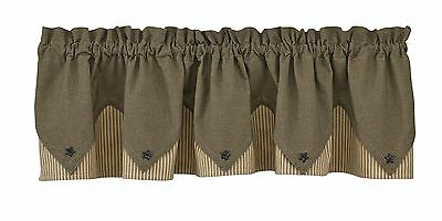 Park Designs Primitive Star Lined Point Valance 72 X 15-Inch