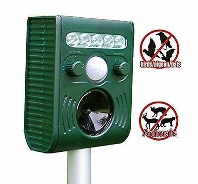 OFKP Solar Animal and Birds Repeller Electronic Pest Control Waterproof Repel...