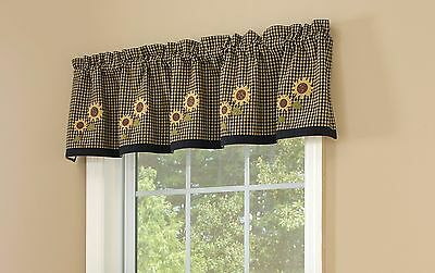 Park Designs Sunflower Check Lined Valance 60 X 14-Inch