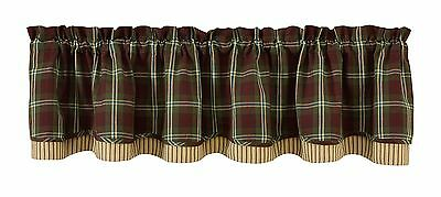 Park Designs Fly Fishing Lined Layer Valance 72 X 16-Inch