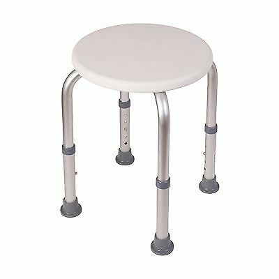 HealthSmart Compact Adjustable Shower Stool White