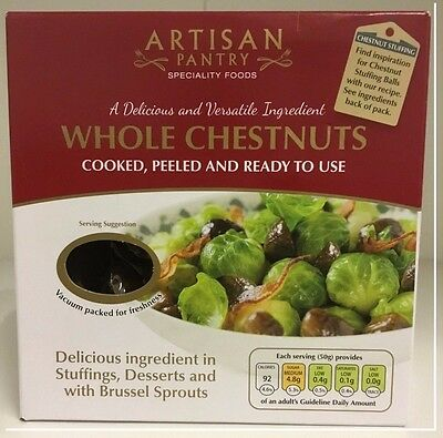 Artisan Pantry Whole Cooked and Peeled Chestnuts 200g