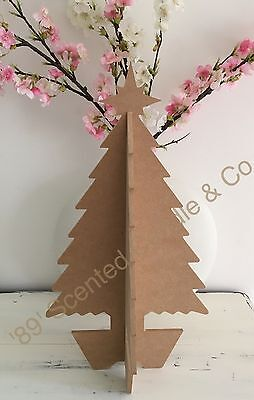 MDF Wooden Cut Out Medium 3D Christmas Xmas Tree  Display DIY Craft Decoration