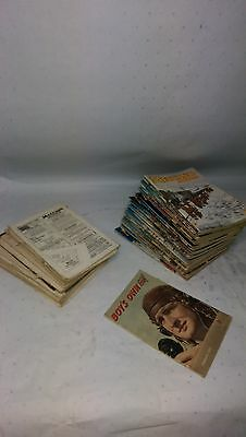 large collection of vintage Meccano Magazines