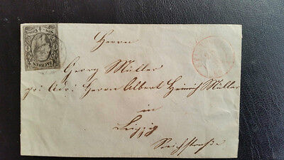 Germany States-1859 (Sachsen) cover 1/2 Gr.