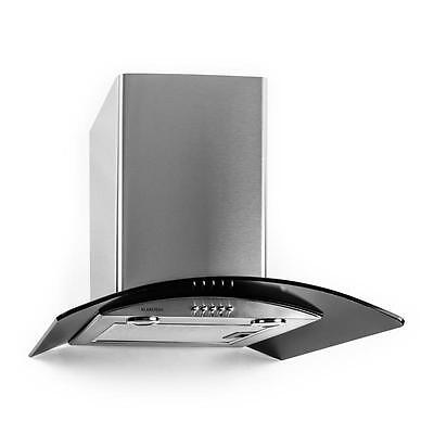 60cm Extractor Cooker Hood By Klarstein Stainless Steel Black Glass 370 m³/h