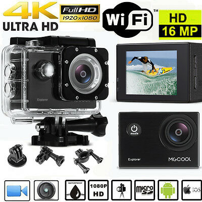 2'' 16MP WIFI Acción Cámara Vídeo Deportiva Sports 1080P 4K HD 1080P Sumergible