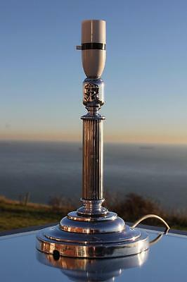 Royal Navy Silver Plate Officers Wardroom Admiralty Table Lamp Royal Yacht Etc