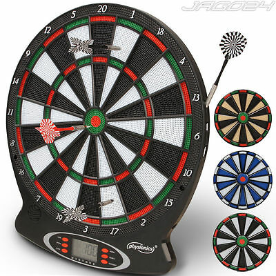 Dart Board Dartboard Set Electronic LED Display 6 Darts Family Party Fun Game