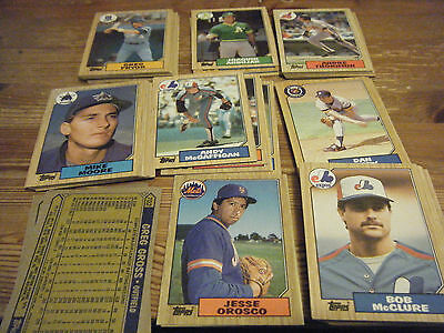 626 / 792   Topps  1987   American Baseball Cards -   Mint   Condition