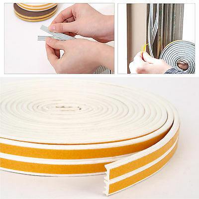 6m E Draught Excluder Tape Seal Doors Windows Foam Weather Strip Insulation