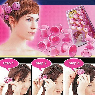 10pcs Silicone Curling Tool Hair Care DIY Peco Roll Hair Style Roller Curler