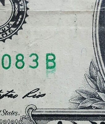 Double Serial Number Dollar Bill Error - Doubled B