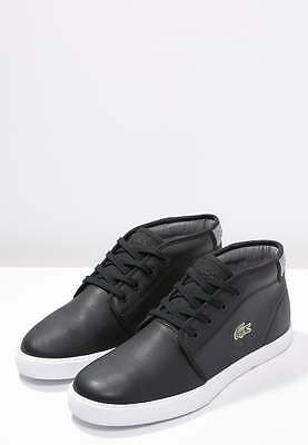 Lacoste Ampthill Black Leather Casual Mens' Trainers Size Uk 9.5 Eur 44