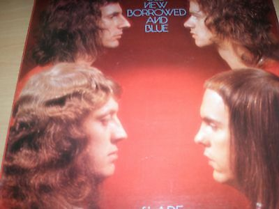 Slade Old New Borrowed And Blue Vinyl Album in Gatefold 1974 Polydor 2383-261