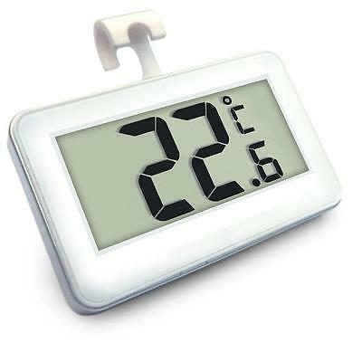White Digital Electronic Fridge Freezer Room Thermometer With Magnet Hook B-1
