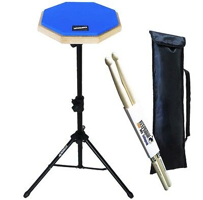 Keepdrum DP-BL SET Practice Pad Blue with tripod and bag + Drumsticks