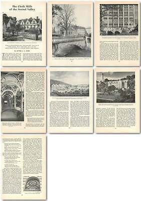 1959 The Cloth Mills Of The Stroud Valley Old Article