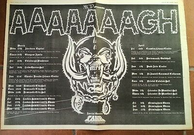 MOTORHEAD UK Tour 1982 Giant Poster size Press ADVERT 24x16 inches