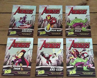 Marvel Disney XD Avengers limited edition collectable postcard set 2010 rare
