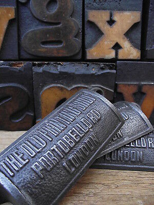 10 x Vintage Style Old Printing Shop Portobello Rd Cup Handles drawer pulls knob