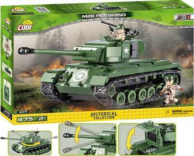 COBI 2471 - M-26 Pershing - US schwer Panzer - WWII Small Army Bausteine