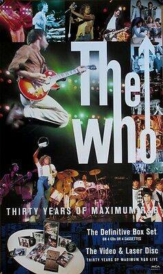 The Who Thirty Years Of Maximum R&B RARE promo poster '94